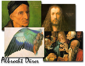Screenshots of the Albrecht Dürer Screen Saver